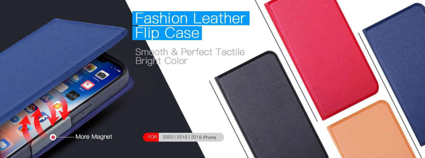 Fashion Flip Leather Case (Red)