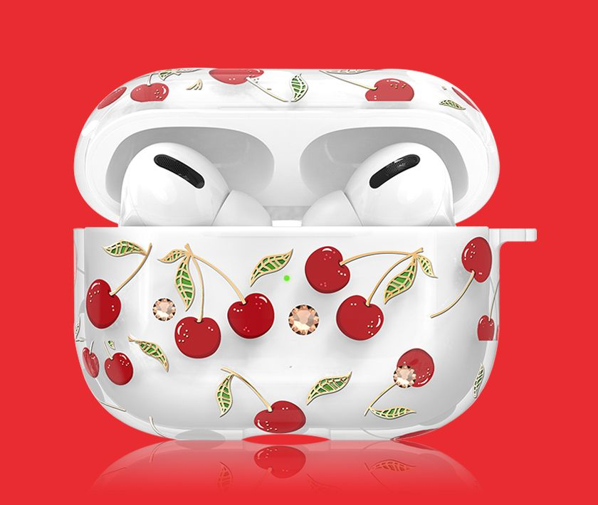 Rhinestone/Crystal Airpods Pro Case (cherry)