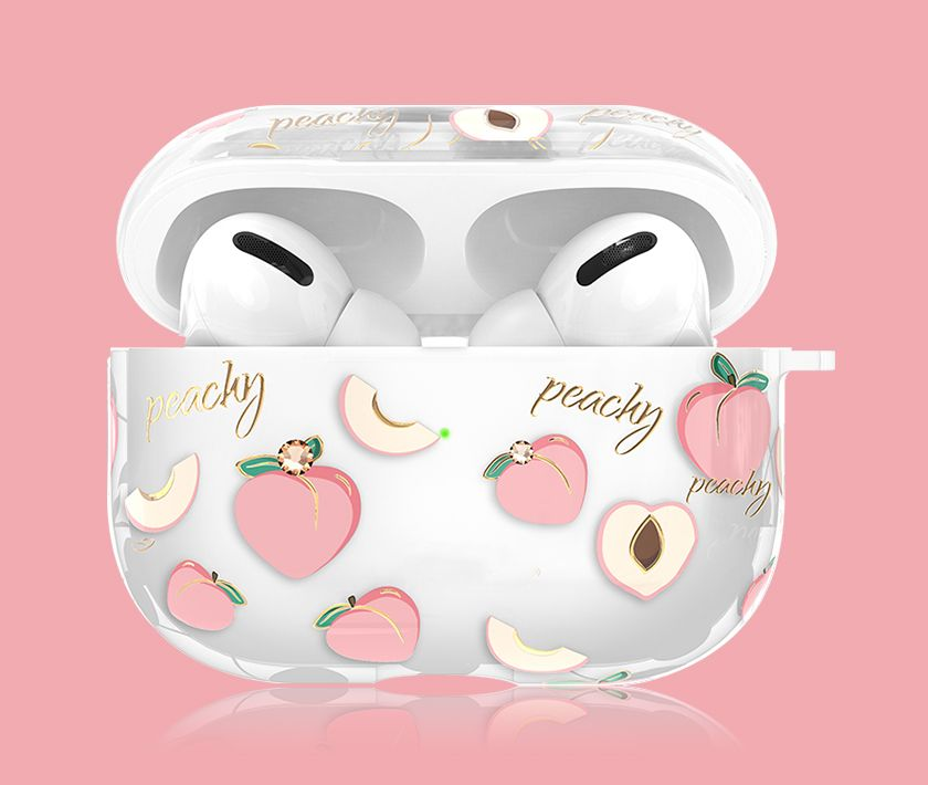 Rhinestone/Crystal Airpods Pro Case (Peach)