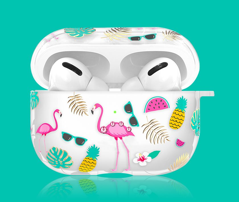 Rhinestone/Crystal Airpods Pro Case (Flamingo)