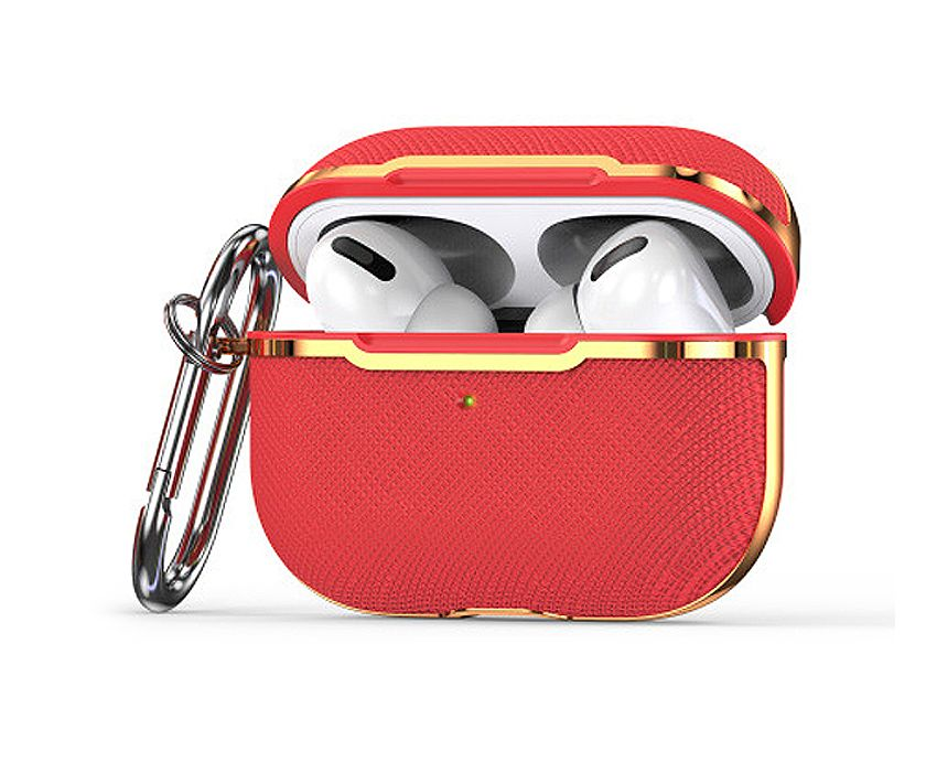 Classic Leather Airpods Pro Case (Red)