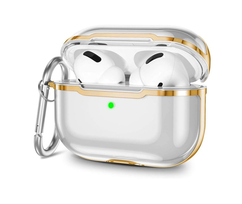 Impact Protection Airpods Pro Case (Golden Plating)